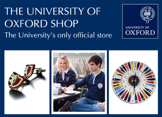 University of Oxford Shop Advert