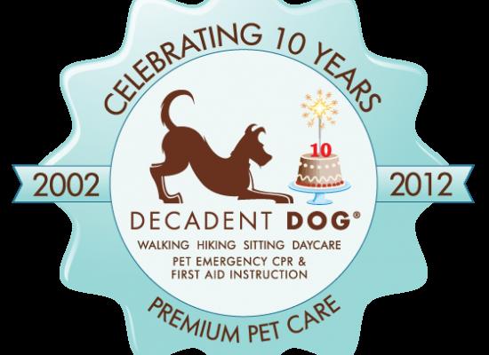 Decadent Dog Anniversary Logo Design