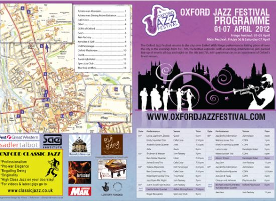 Oxford Jazz Festival Programme