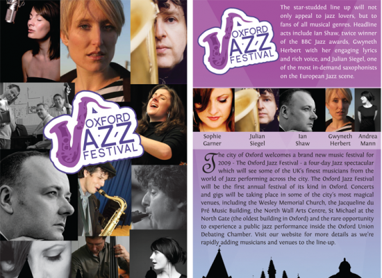 Oxford Jazz Festival DL Flyer