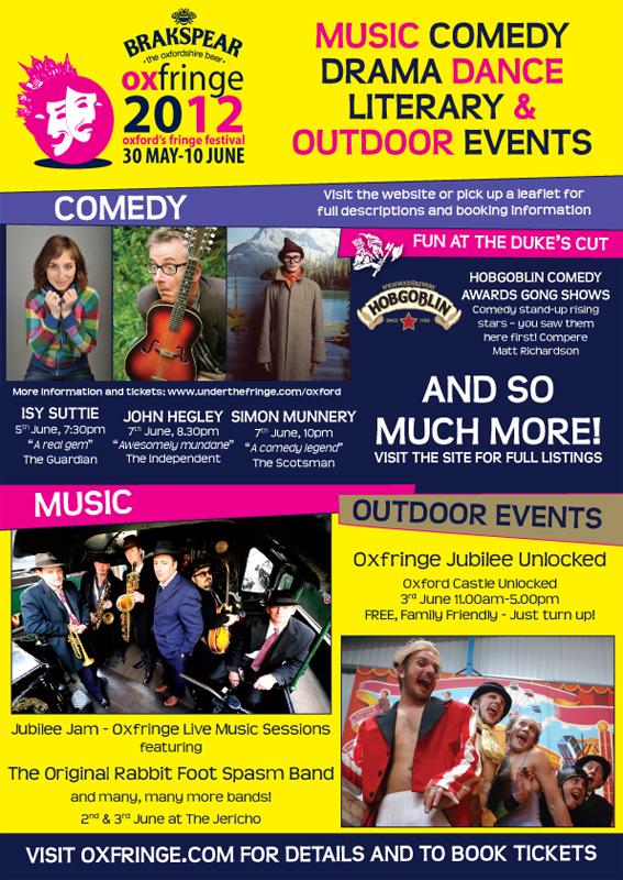 Oxford Fringe Festival Poster