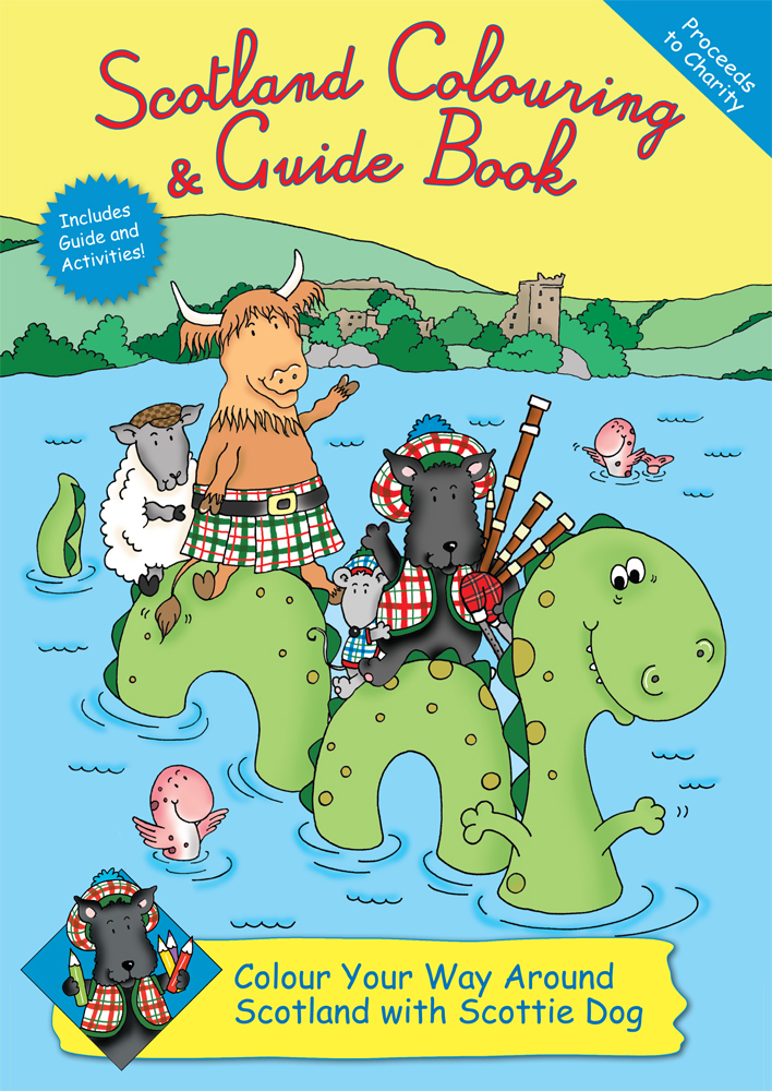 Scotland Colouring Book Cover