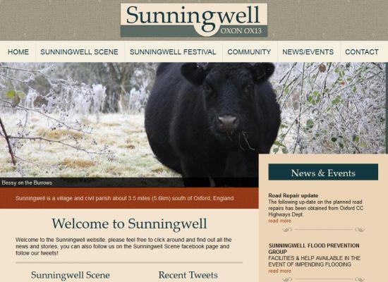 Sunningwell Village Website Design