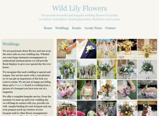 Wild Lily Flowers Website Design