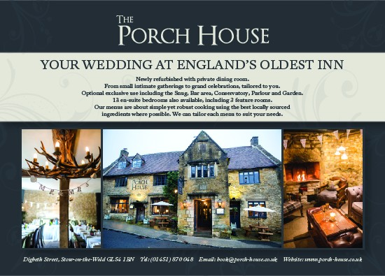The Porch House Magazine Advert