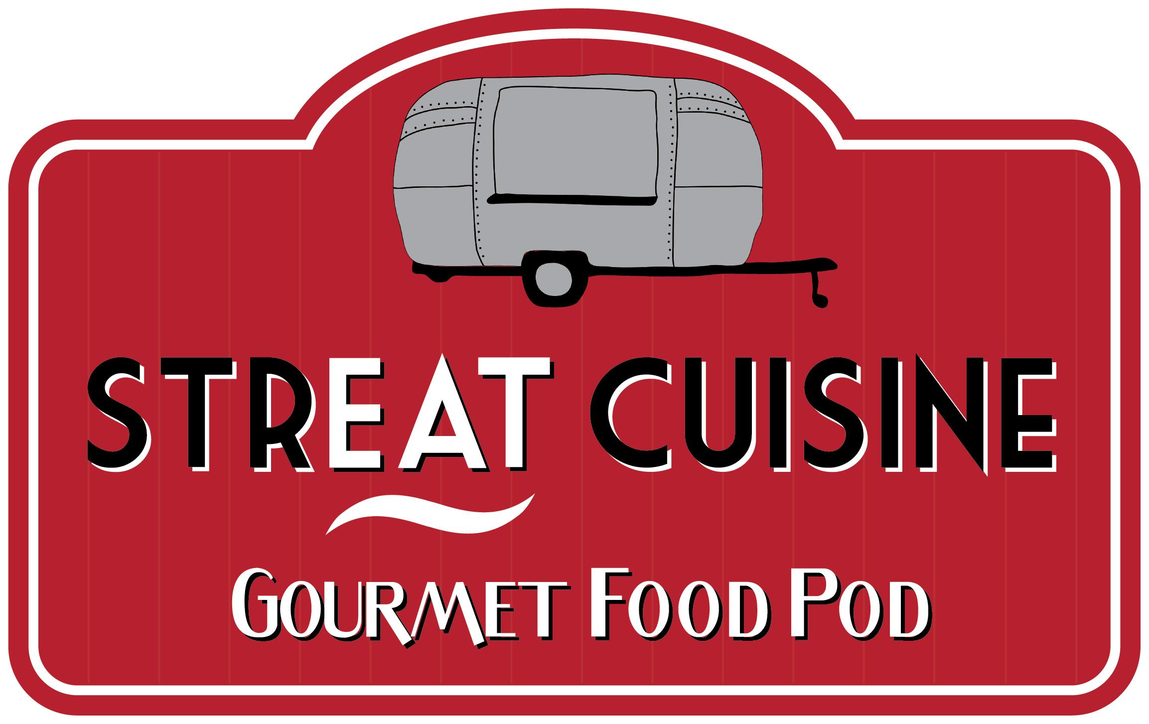 StrEat Cuisine Food Pod Logo Design