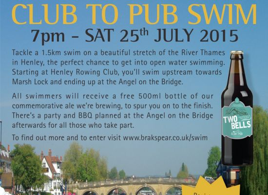 Club to Pub Swim Advertisement
