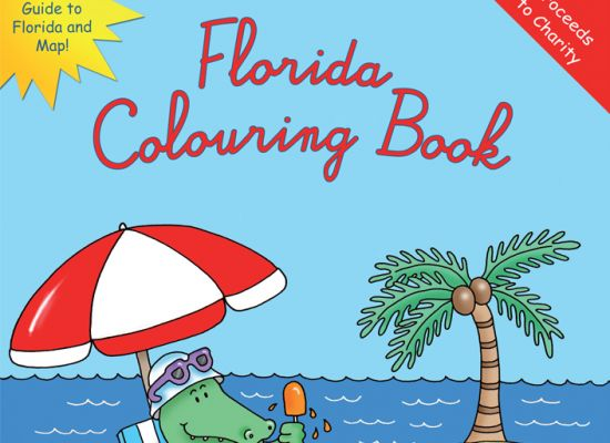 Florida Colouring and Guide Book Design