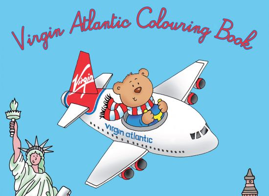 Virgin Atlantic In-Flight Colouring Book Design