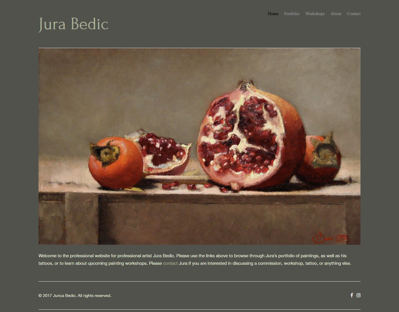 Jura Bedic, Artist Website – Alissa J  Robinson